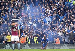 Birmingham City fans celebrate as David Davis of Birmingham City scores to make it 1-1 - Mandatory by-line: Dougie Allward/JMP - 30/10/2016 - FOOTBALL - St Andrew's Stadium - Birmingham, England - Birmingham City v Aston Villa - Sky Bet Championship