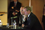 31/07/2012. REPRO FREE FIRST USE.  The Taoiseach Enda Kenny, TD, watching a promo video of a Government plan to double the value of Ireland's ocean wealth to 2.4% of GDP by 2030 and increase the turnover from our ocean economy to exceed ?6.4bn by 2020. The report, 'Harnessing Our Ocean Wealth - An Integrated Marine Plan for Ireland' was launched at the Marine Institute, Galway with Simon Coveney TD, Minister for Agriculture Food and the Marine TD.  Picture :Andrew Downes..