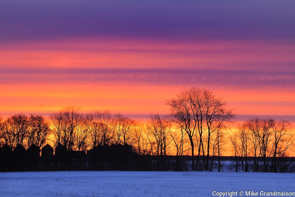 FArmstead at dusk<br /> Dauphin<br /> Manitoba<br /> Canada