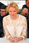 """20.MAY.2012. CANNES<br /> <br /> LILY COLE ATTENDS THE """"CONFESSION OF A CHILD OF THE CENTURY"""" PHOTOCALL AT THE 2012 CANNES FILM FESTIVAL.<br /> <br /> BYLINE: EDBIMAGEARCHIVE.CO.UK<br /> <br /> *THIS IMAGE IS STRICTLY FOR UK NEWSPAPERS AND MAGAZINES ONLY*<br /> *FOR WORLD WIDE SALES AND WEB USE PLEASE CONTACT EDBIMAGEARCHIVE - 0208 954 5968*"""