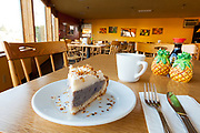 Purple Okinawan Sweet Potato Pie, at Ohana Hawaiian Cafe in Portland