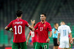Ivelin Popov and Ivan Goranov of Bulgaria during football match between National teams of Slovenia and Bulgaria in Group stage of UEFA Nationals League, on September 6, 2018 in SRC Stozice, Ljubljana, Slovenia. Photo by Urban Urbanc / Sportida