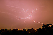 UNITED KINGDOM, London: 19 July 2017 Lightning strikes across the sky above London early this morning as an electrical storm ripped through the south of the country causing flash floods and power outages. Rick Findler / Story Picture Agency