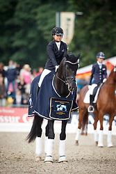 Schneider Dorothee, (GER), Sezuan 2<br /> First Qualifier 6 years old horses<br /> World Championship Young Dressage Horses - Verden 2015<br /> © Hippo Foto - Dirk Caremans<br /> 07/08/15