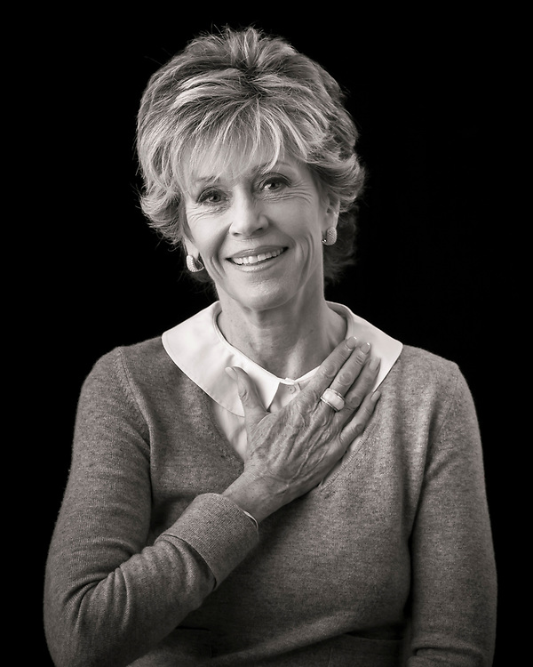 Oscar winning actress Jane Fonda, photographed in her Atlanta condo for Hands on Atlanta.