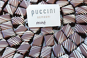 Puccini Bomboni chocolate shop selling exotic mint chocolates as treats in the Old Town of Amsterdam, Holland