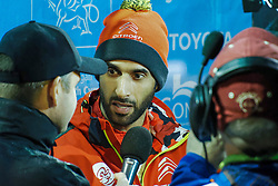 October 26, 2017 - Deeside, Wales, United Kingdom - 7 Kahlid Al Qassimi (UAE) of CitroÃ«n World Rally Team speaks to the media prior to the Rally GB round of the 2017 FIA World Rally Championship. (Credit Image: © Hugh Peterswald/Pacific Press via ZUMA Wire)
