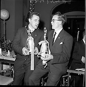 24/01/1962.01/24/1962.24 January 1962.Gaelic sports journalists awards dinner at the Gresham Hotel, Dublin..Liam Devaney (Tipperary) (left0 and Gerry O'Malley (Roscommon) who were presented with their trophies as Hurler and Footballer of the Year at the Association of Gaelic Sports Journalists.