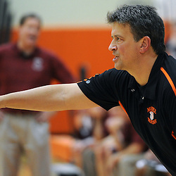 TOM KELLY IV &mdash; DAILY TIMES<br /> Marple Newtown head coach calls a play during the Garnet Valley at Marple Newtown boys basketball game on Tuesday night December 9, 2014.