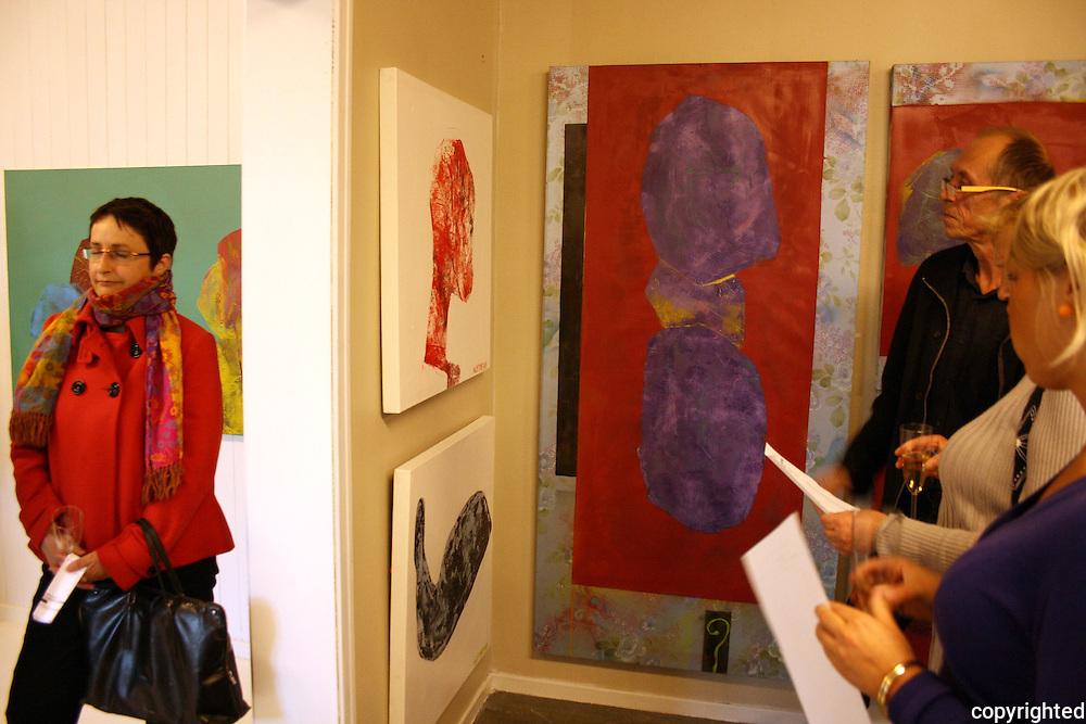 Exhibition with the norwegian artist Alf Toftner. Opening night at Trondheim Prosjektrom.