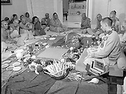 Hare Krishna Initiation, Dublin.02.05.1982..05.02.1982.2nd May 1982.1982.At the Hare Krishna Temple,Castlefield House,Knocklyon Rd,Templeogue,Dublin,new members are initiated into the Hare Krishna movement. The initiation was conducted by Guru His Divine Grace, Srila Satswarupa Das Goswami..The new member lies face down on the floor as Guru His Divine Grace,Srila Das Goswami conducts the ceremony.
