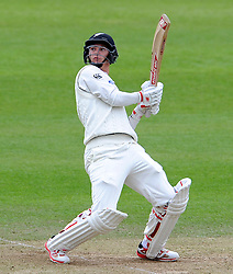 New Zealand's Ben Wheeler flicks the ball. Photo mandatory by-line: Harry Trump/JMP - Mobile: 07966 386802 - 10/05/15 - SPORT - CRICKET - Somerset v New Zealand - Day 3- The County Ground, Taunton, England.