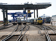 Rail freight terminal, Port of Felixstowe, Suffolk