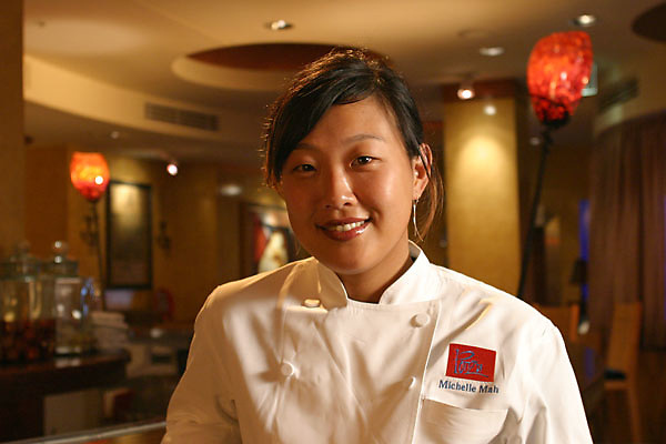 Executive Chef Michelle Mah at Ponzu Restaurant, a Kimpton Group property in San Francisco.  Taken February, 2005.