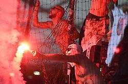 Viole, supporters of Maribor during 1st Leg Football match between NK Maribor (SLO) and AIK Fotboll (SWE) in Second qualifying round of UEFA Champions League 2019/20, on July 24, 2019, in Stadium Ljudski vrt, Maribor, Slovenia. Photo by Milos Vujinovic / Sportida