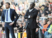Football - 2016 /2017 Championship - Fulham vs Queens Park Rangers<br /> <br /> QPR Manager, Jimmy Floyd Hasselbaink at Craven Cottage<br /> <br /> Credit : Colorsport / Andrew Cowie