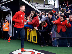 LONDON, ENGLAND - Sunday, March 17, 2019: Liverpool's captain James Milner runs out for the the pre-match warm-up before the FA Premier League match between Fulham FC and Liverpool FC at Craven Cottage. (Pic by David Rawcliffe/Propaganda)