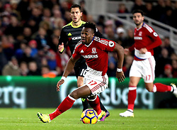 Adama Traore of Middlesbrough runs with the ball - Mandatory by-line: Robbie Stephenson/JMP - 20/11/2016 - FOOTBALL - Riverside Stadium - Middlesbrough, England - Middlesbrough v Chelsea - Premier League