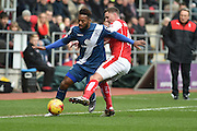 Rotherham United defender Frazer Richardson tries to take ball off Jacques Maghoma of Birmingham city  during the Sky Bet Championship match between Rotherham United and Birmingham City at the New York Stadium, Rotherham, England on 13 February 2016. Photo by Ian Lyall.
