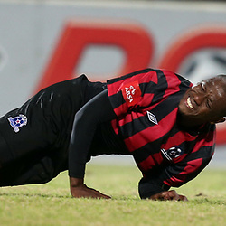 DURBAN, SOUTH AFRICA - AUGUST 03: Ruben Cloete of Maritzburg Utd  during the Absa Premiership match between Maritzburg United and Polokwane City at Harry Gwala Stadium on August 03, 2013 in Durban, South Africa. (Photo by Steve Haag/Gallo Images)
