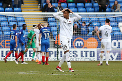 Ezri Konsa of Charlton Athletic cant believe his sides missed penalty - Mandatory by-line: Joe Dent/JMP - 10/03/2018 - FOOTBALL - ABAX Stadium - Peterborough, England - Peterborough United v Charlton Athletic - Sky Bet League One