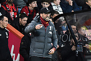 Liverpool manager Jurgen Klopp celebrates Naby Keïta (8) of Liverpool goal to give a 0-2 lead during the Premier League match between Bournemouth and Liverpool at the Vitality Stadium, Bournemouth, England on 7 December 2019.