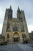 France, Normandy.  Coutances Cathedral.