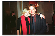 Sienna Miller; Tom Rutherford. NSPCC 1999 Berkeley Dress show. Savoy Hotel. London. 1999.  *** Local Caption *** -DO NOT ARCHIVE-© Copyright Photograph by Dafydd Jones. 248 Clapham Rd. London SW9 0PZ. Tel 0207 820 0771. www.dafjones.com.<br /> Sienna Miller; Tom Rutherford. NSPCC 1999 Berkeley Dress show. Savoy Hotel. London. 1999.