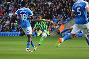 AFC Wimbledon midfielder AFC Wimbledon midfielder Tom Beere (16) shoots at goal during the EFL Sky Bet League 1 match between Peterborough United and AFC Wimbledon at ABAX Stadium, London Road, Peterborough, England on 22 October 2016. Photo by Stuart Butcher.