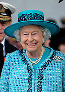 Queen Elizabeth Names Aircraft Carrier, Rosyth