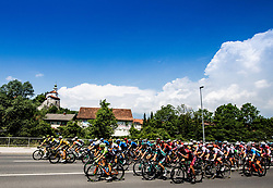 Peloton in Kamnik during 3rd Stage of 26th Tour of Slovenia 2019 cycling race between Zalec and Idrija (169,8 km), on June 21, 2019 in Slovenia. Photo by Vid Ponikvar / Sportida