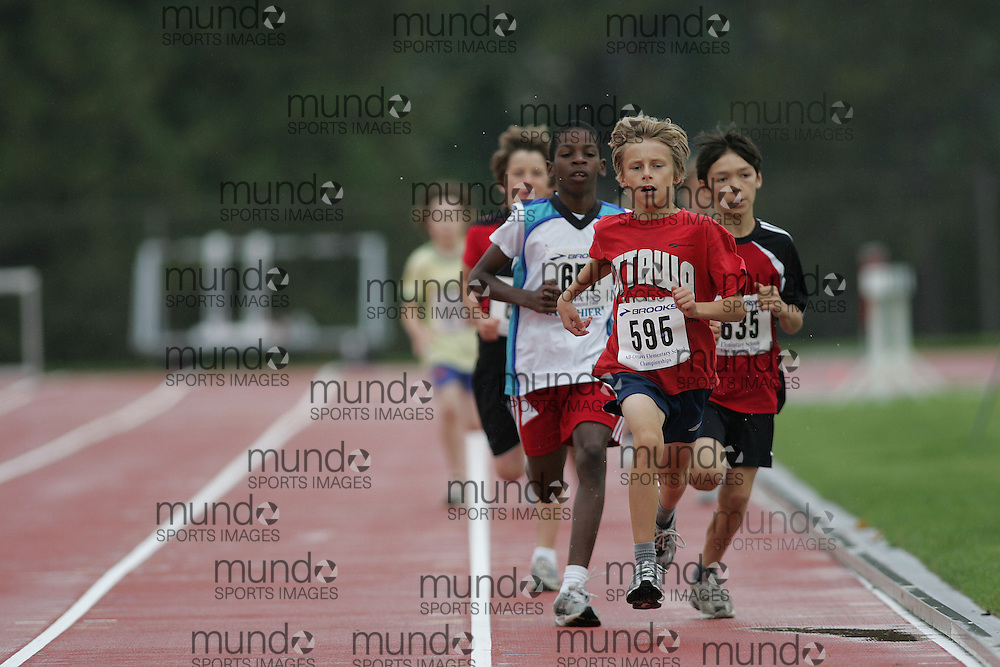 (Ottawa, Ontario}---26 June 2010)  Sacha Cadieux in the 1500m at the 2010 All-Elementary Schools Ottawa and Region Championship and Ottawa Lions High Performance Invitational. Photograph copyright Sean Burges / Mundo Sport Images, 2010. info@mundosportimages.com