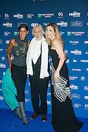 Pierre Richard et sa compagne et Julie Gayet lors de la cinquième cérémonie des Magritte du cinéma belge. De nombreuse personnalités du cinéma étaient présentes pour cette édition. Notamment Julie Gayet, Pierre Richard (Magritte d'Honneur), François Damiens, Thierry Lhermitte mais également SAR le Prince Laurent et la Princesse Claire de Belgique