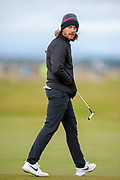 Tommy Fleetwood on the 16th green during the final round of the Alfred Dunhill Links Championships 2018 at West Sands, St Andrews, Scotland on 7 October 2018