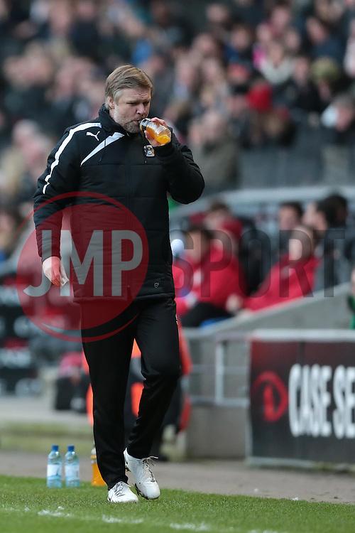 Coventry City manager, Steven Pressley - Photo mandatory by-line: Nigel Pitts-Drake/JMP - Tel: Mobile: 07966 386802 30/11/2013 - SPORT - Football - Milton Keynes - Stadium mk - MK Dons v Coventry City - Sky Bet League One