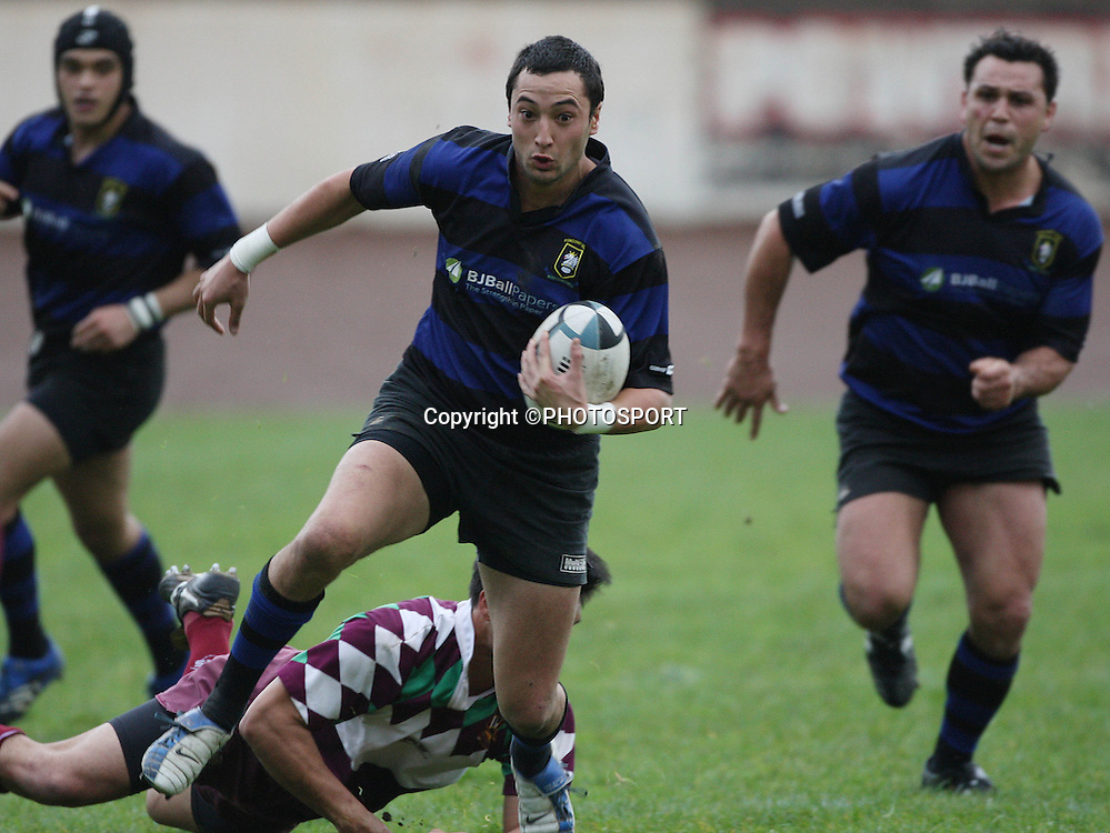Chay Raui during the Gallaher Shield club rugby semi final game, Ponsonby v Waitakere, Western Springs Stadium, Auckland. 04 August 2007, Photo : Chris Skelton/PHOTOSPORT