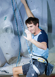 Slovenian climber Klemen Becan at World cup competition in Zlato polje, Kranj, Slovenia, on November 15, 2008.  (Photo by Vid Ponikvar / Sportida)