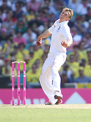 © Licensed to London News Pictures. 03/01/2014. Scott Borthwick<br /> bowling during the 5th Ashes Test Match between Australia Vs England at the SCG on 03 January, 2013 in Melbourne, Australia. Photo credit : Asanka Brendon Ratnayake/LNP