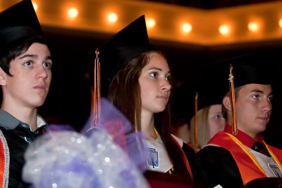Lathan Goumas | MLive.com..Graduates during the 2012 Flushing High School commencement ceremony at the Whiting Theater in Flint, Mich. on Sunday June 3, 2012.