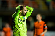 Hibernian midfielder Andrew Shinnie (#22) reacts to missing an opportunity during the Ladbrokes Scottish Championship match between Dundee United and Hibernian at Tannadice Park, Dundee, Scotland on 10 March 2017. Photo by Craig Doyle.