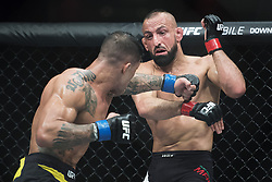 May 28, 2017 - Stockholm, SVERIGE - 170528 Sveriges Reza Madadi (t h) tÅ vlar mot Brasiliens Joaquim Silva i lÅ ttvikt under kampsportsgalan UFC Fight Night den 28 maj 2017 i Stockholm  (Credit Image: © Joel Marklund/Bildbyran via ZUMA Wire)