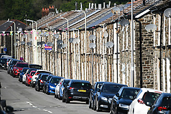 © Licensed to London News Pictures. 17/09/2020. Rhondda Valley, UK. A traditional terraced street in the former mining town of Treorchy in the Rhondda Valley which will go into local lockdown today after a spike in the coronavirus infection rate in the borough of Rhondda Cynon Taff in south Wales.. Photo credit: Robert Melen/LNP