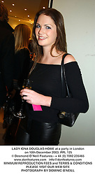 LADY IONA DOUGLAS-HOME at a party in London on 10th December 2003.PPL 125