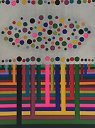 Mike Harridge. Boredom Woods<br /> 35&quot;  x  47&quot;<br /> Acrylic on Canvas<br /> 120,000/-