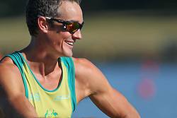 Australian Rowing Olympic Trials, March 2012, Sydney International Rowing Centre - Samuel Beltz in the Mens Lightweight Four
