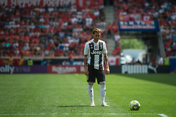 July 28, 2018 - Harrison, New Jersey, United States - Juventus forward LUCA CLEMENZA (38) lines up for a free kick during the International Champions Cup at Red Bull Arena in Harrison, NJ.  Juventes defeats SL Benfica 1-1  (Credit Image: © Mark Smith via ZUMA Wire)