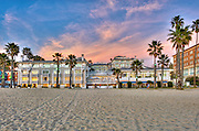 Shutters on the Beach, Fiery Sky, Sunset, Beachfront Luxury, Hotel, Santa Monica CA