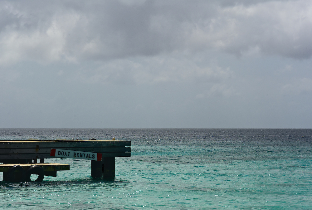 Pier and Caribbean Sea, Curacao
