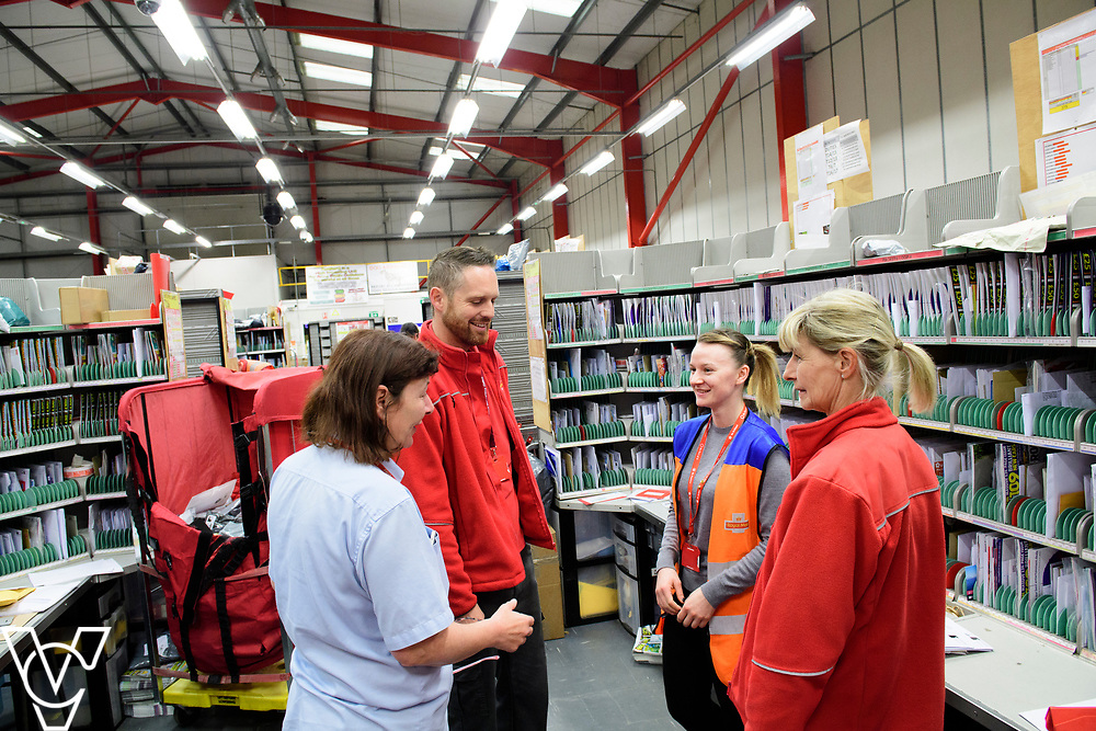 Royal Mail Retford Delivery Office.  Pictured, clockwise from left, Bev Harrand, Greg Smith, Robyn Stanney and Tracey Holland.<br /> <br /> Picture: Chris Vaughan Photography<br /> Date: March 22, 2017