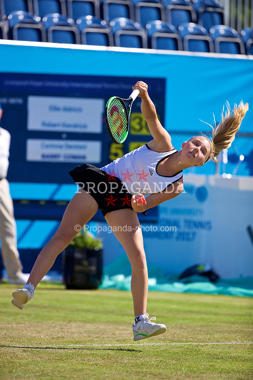 LIVERPOOL, ENGLAND - Saturday, June 17, 2017: Ellie Aldrich (GBR) during Day Three of the Liverpool Hope University International Tennis Tournament 2017 at the Liverpool Cricket Club. (Pic by David Rawcliffe/Propaganda)